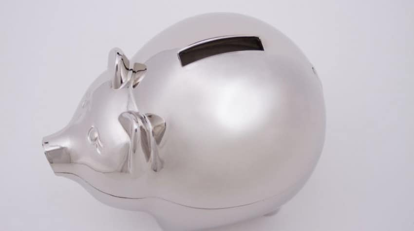 save money in the piggy bank