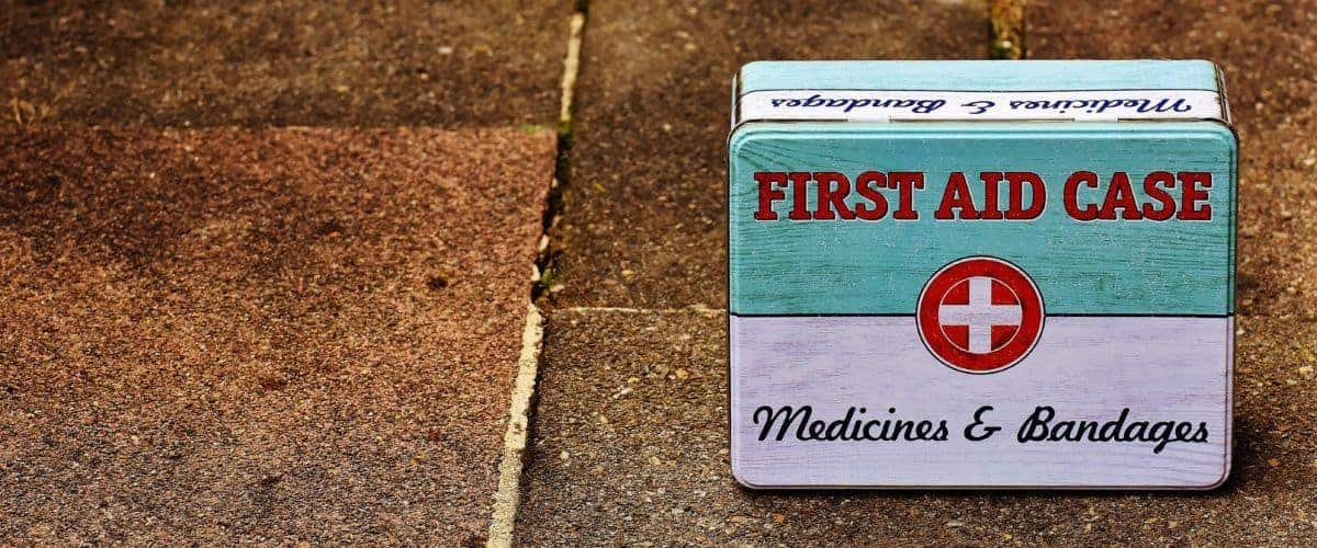 tin first aid kit