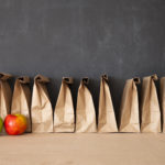 row of brow bag lunches