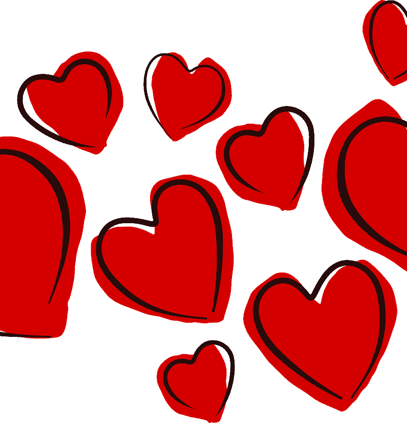floating red heart