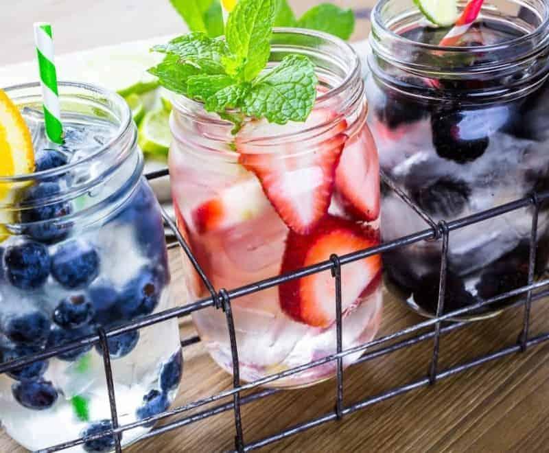 Fruit in mason jars