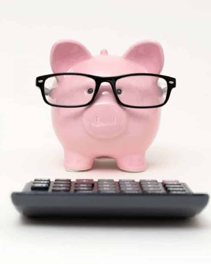 pin piggy bank with glasses