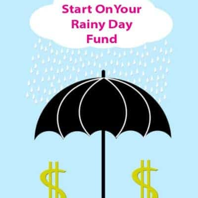 Create an Emergency Fund or Rainy Day Fund With $500 or Less